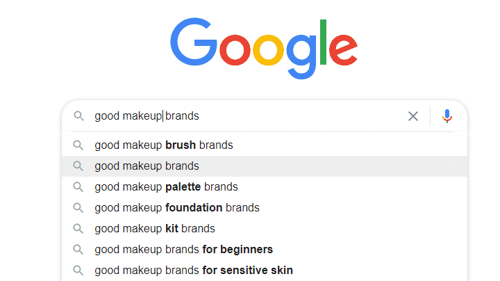 Finding related keywords using Google search