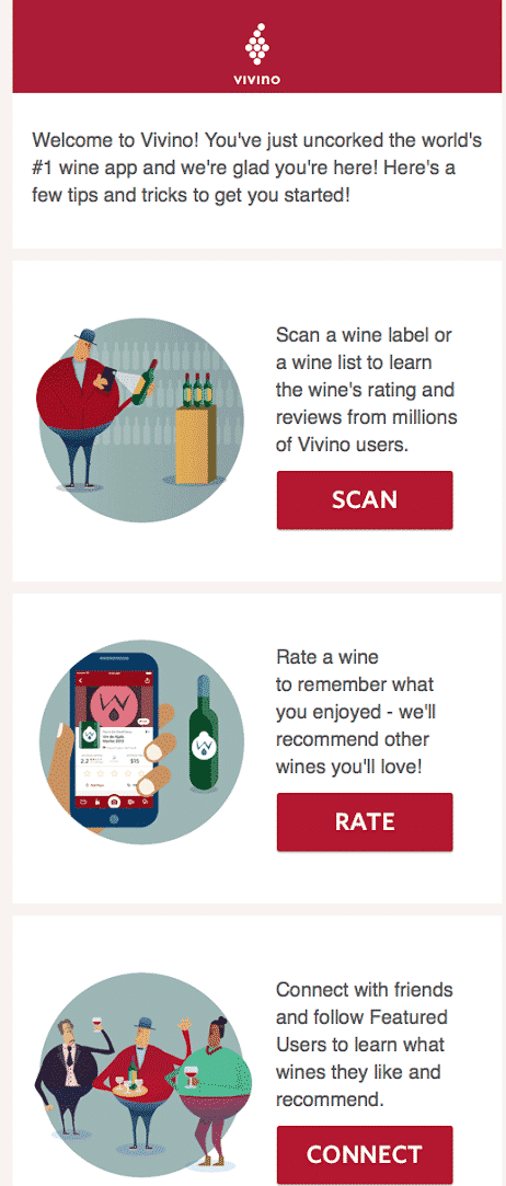 Geometric shapes in Vivino email - Email Design Trends 2021