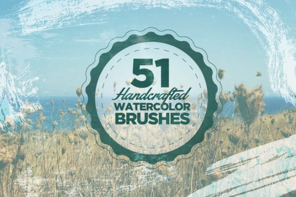 51 Handcrafted Watercolor Brushes