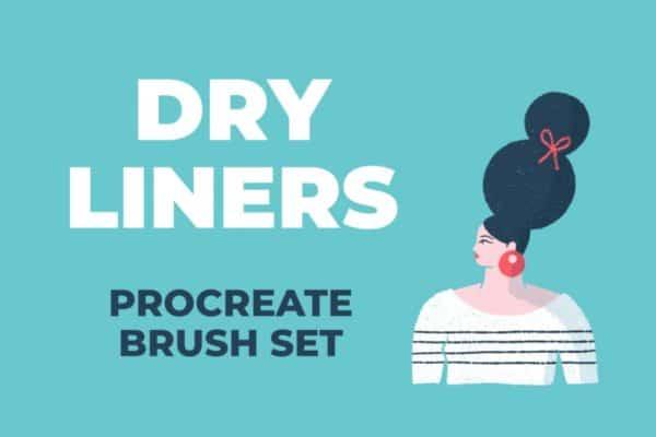 Dry Liners Procreate Brush Set