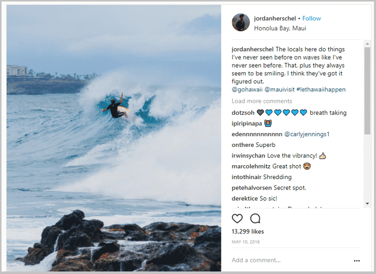 Micro-influencer creates user-generated content