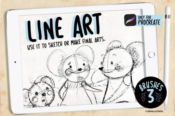 Line Art – Brushes For Procreate