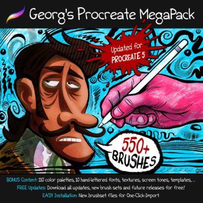 MEGAPACK 600+ Brushes for Procreate