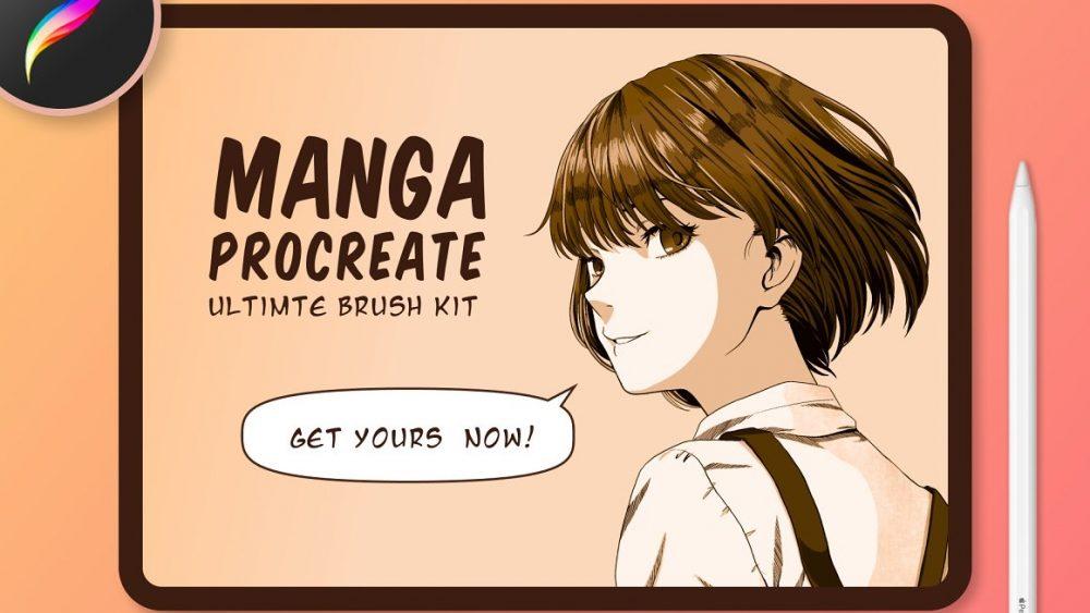 Manga Procreate Brushes & Anime