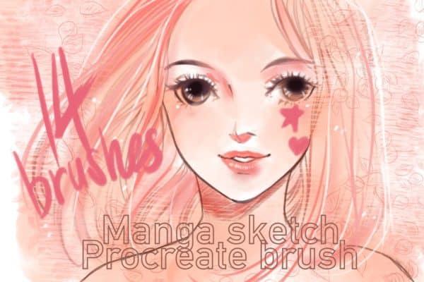 Manga sketch procreate brush