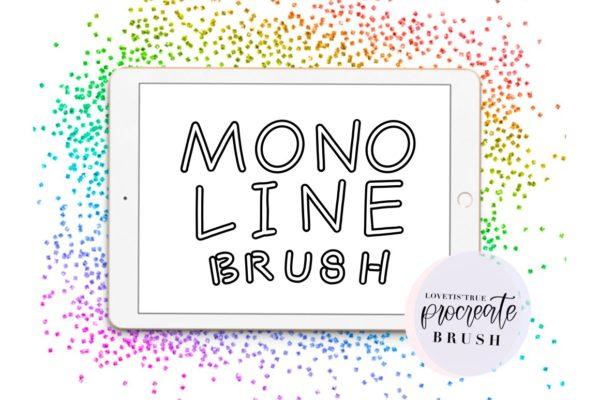 Monoline Outline Procreate Brush