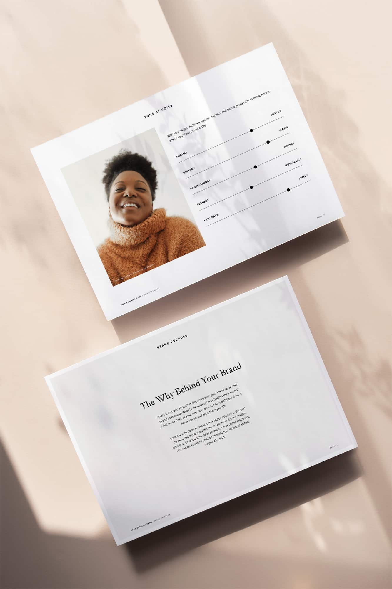 Professional Design Business Template - Brand Strategy