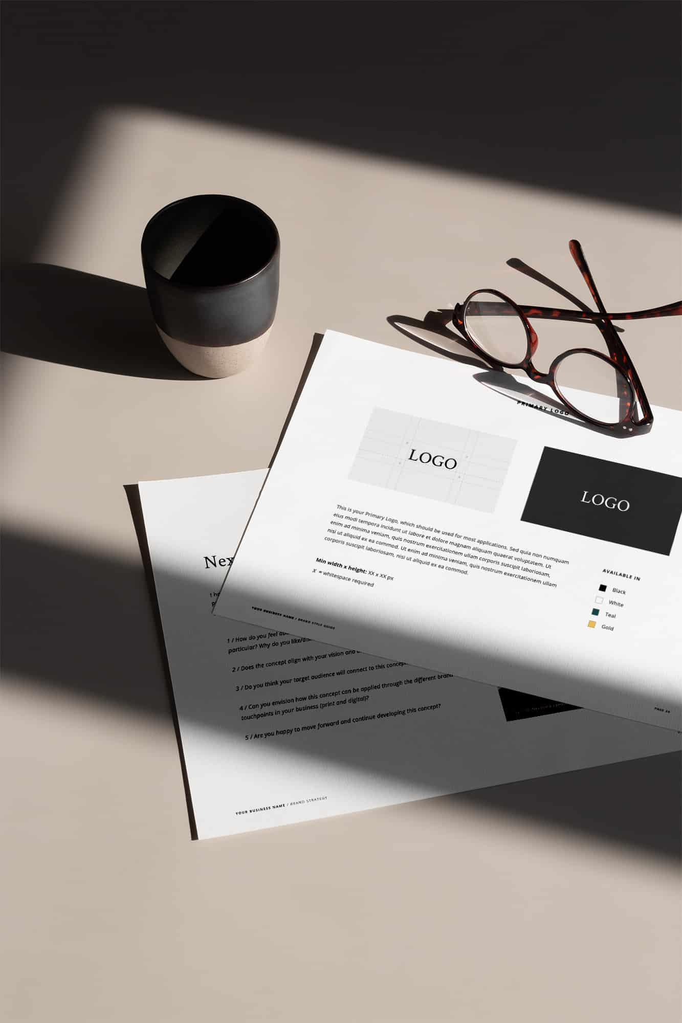 Professional Design Business Template - Brand Style Guide