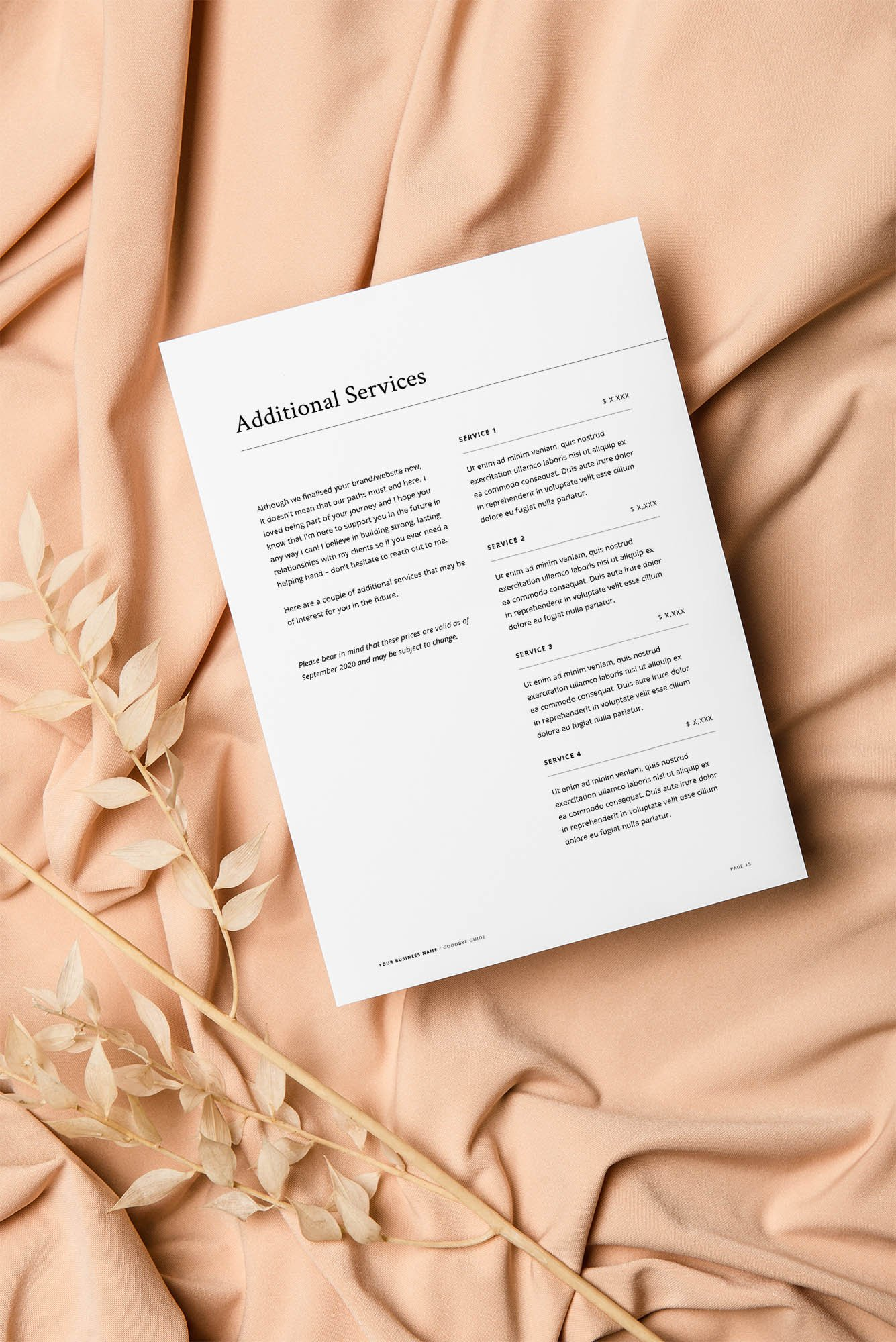 Professional Design Business Template - Goodbye Guide