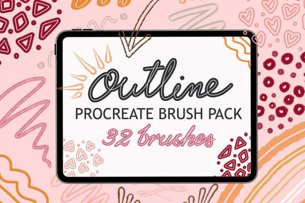 Outline Brush Set for Procreate