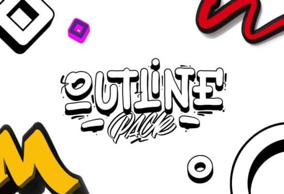 Outline Brushes for Procreate – Outline Pack