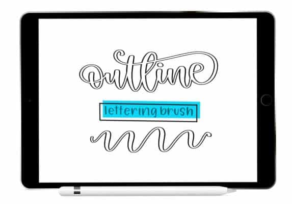 Outline Procreate Lettering Brush