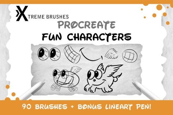 Procreate Fun Characters Kit!!!