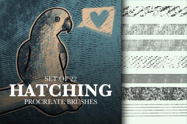 Procreate Hatching Brushes