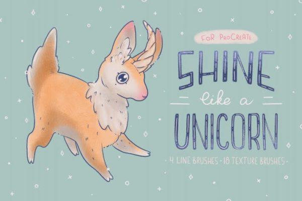 Shine Like a Unicorn Procreate Brushes