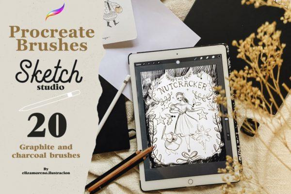 Sketch Studio Brushes for Procreate