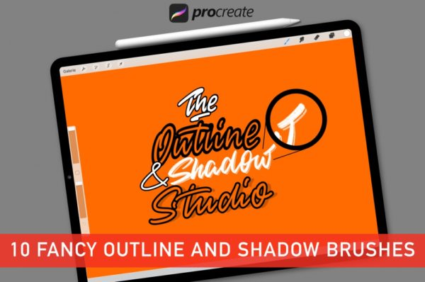 The Outline and Shadow Studio for Procreate