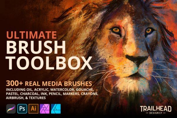 Ultimate Brush Toolbox for Procreate, Photoshop, Illustrator & Affinity