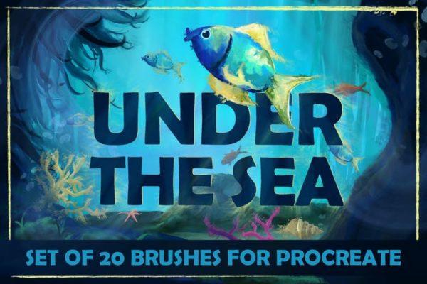 Under The Sea - Procreate Brushes