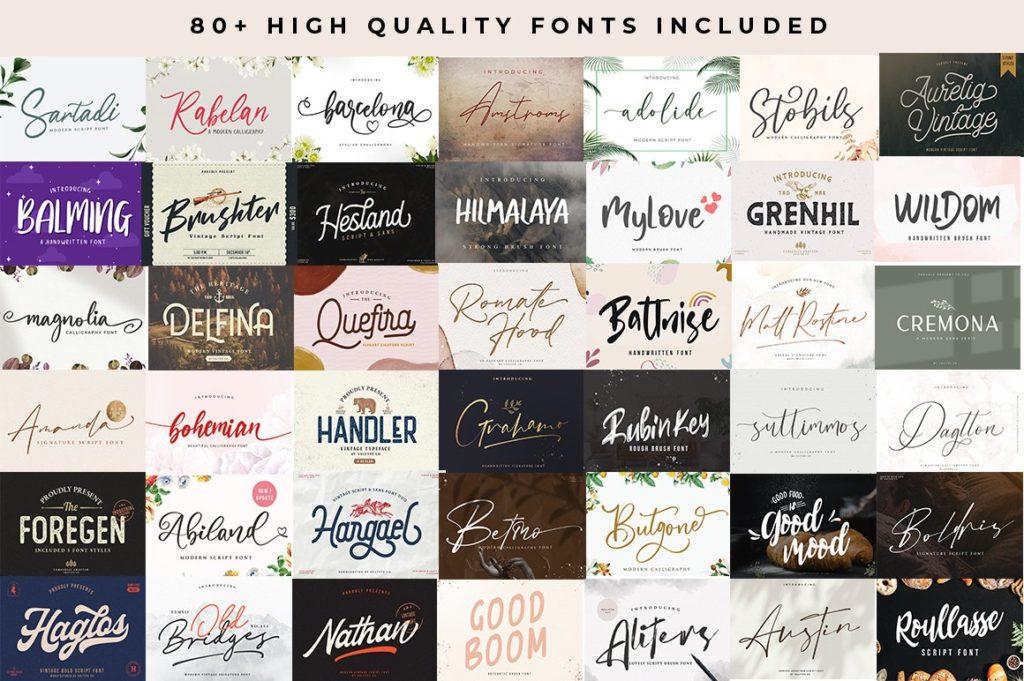Graphic Designer's Font Bundle