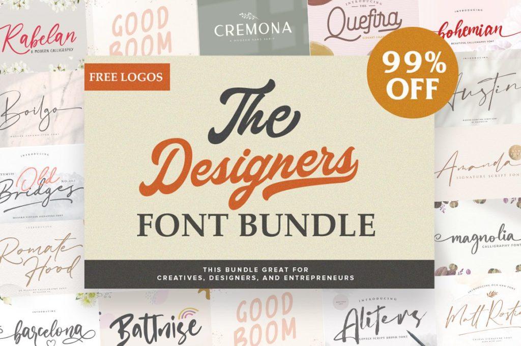 Graphic Designer's Font Bundle Intro