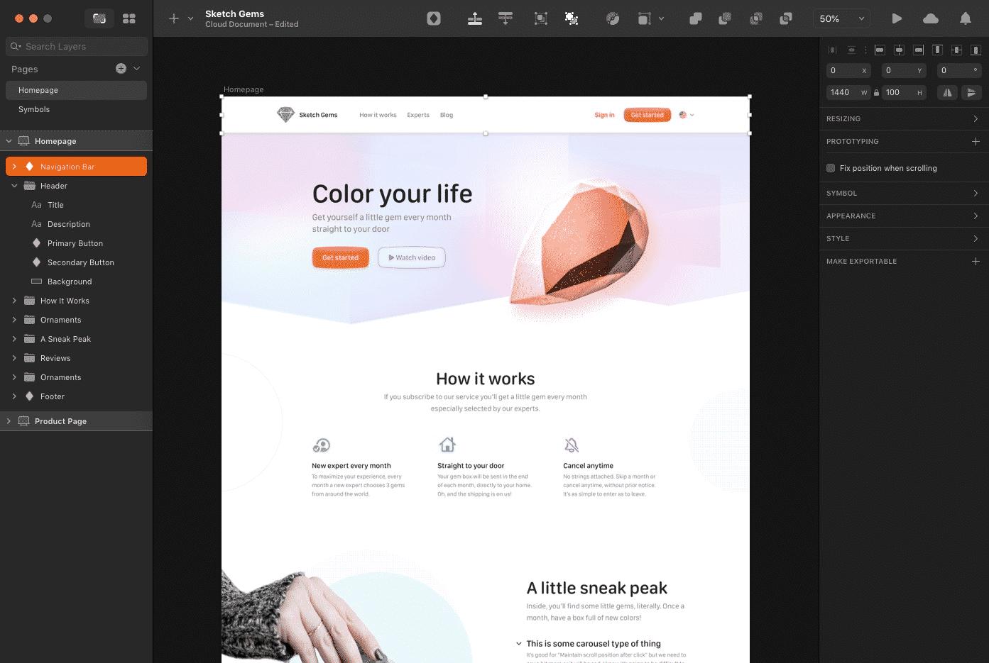 Sketch Website Prototyping Tool