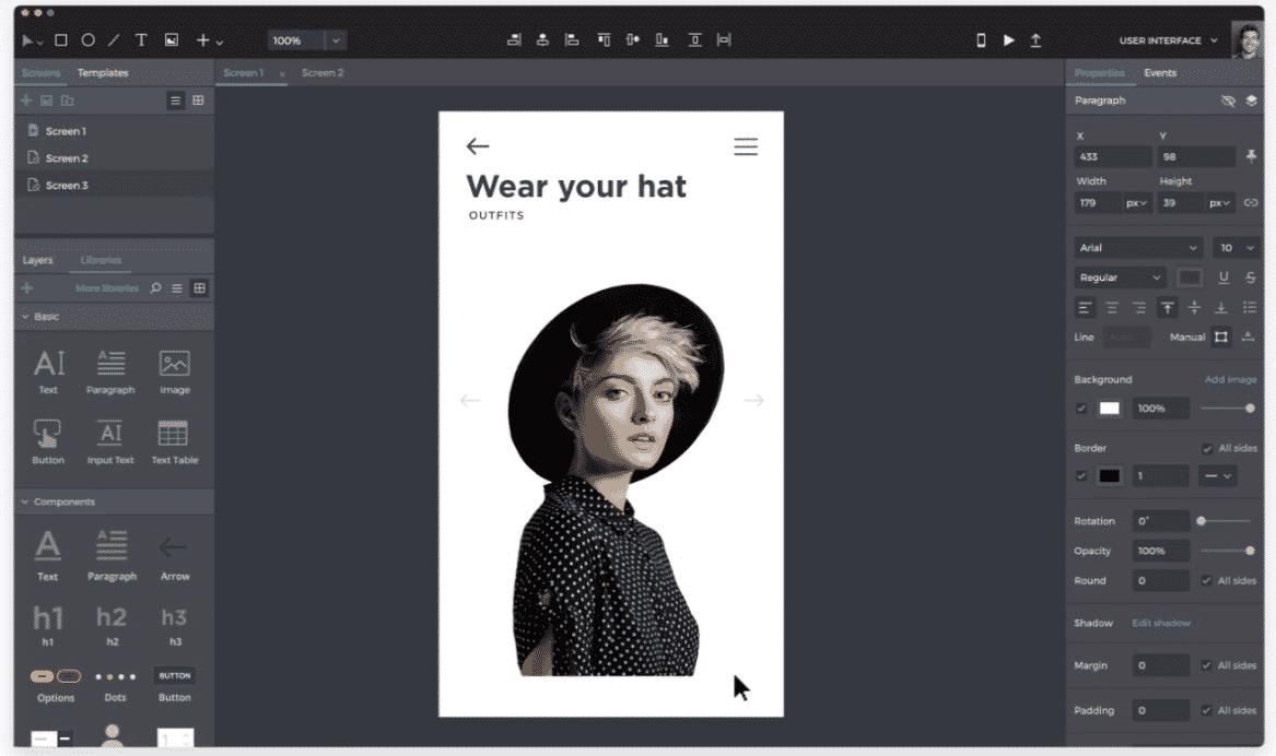 Justinmind Website Prototyping Tool