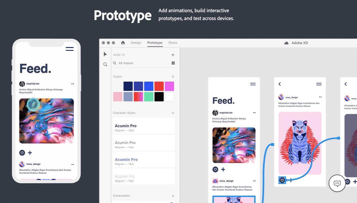 Adobe XD Website Prototyping Tool