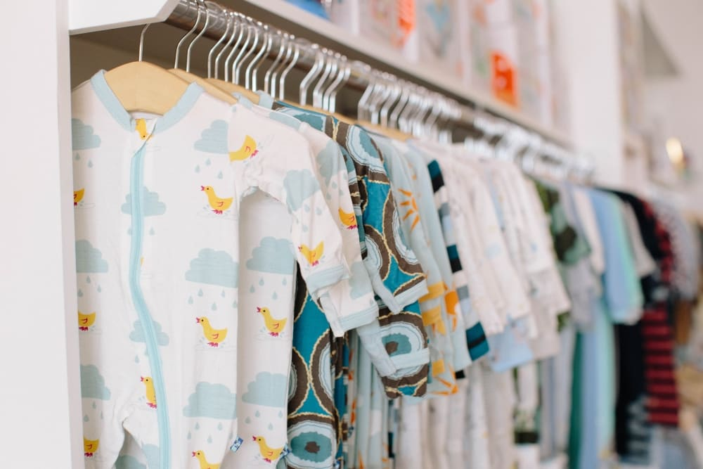 Baby clothing image depicting website context