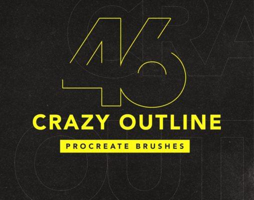 46 Outline brushes procreate