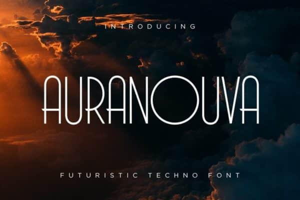 Auranouva Techno Font