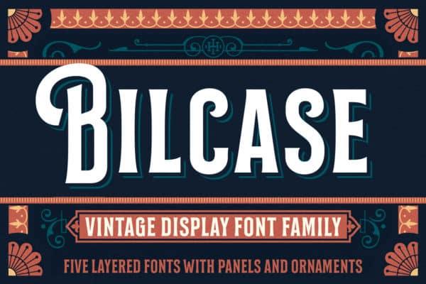 Bilcase Vintage Display Font Family