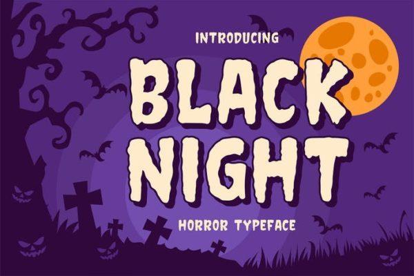 Black Night - Terror Typeface