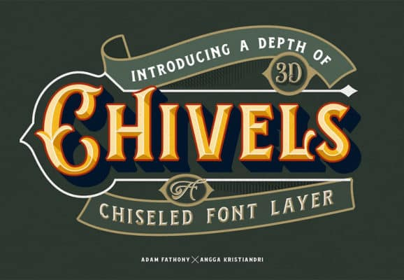 Chivels – Chiseled Font Layer
