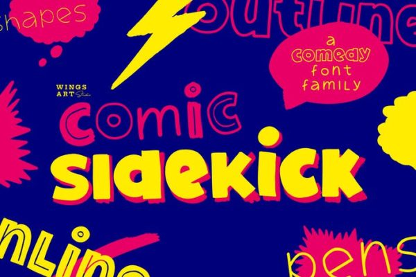 Comic Sidekick - A Screwball Comedy Typeface Family