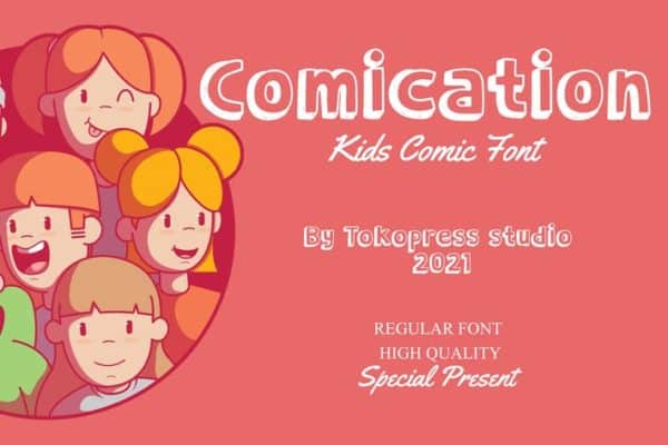 Comication - Cute Typeface for Kids
