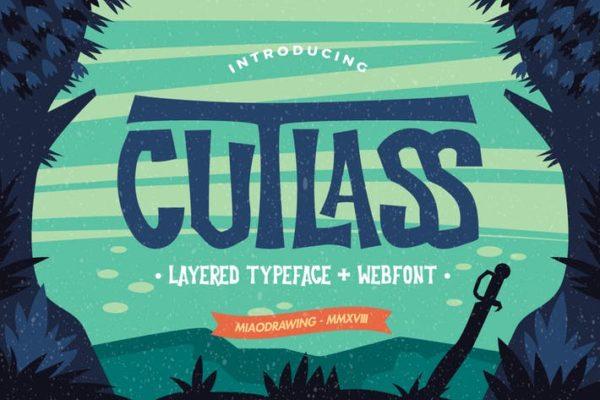 Cutlass Typeface