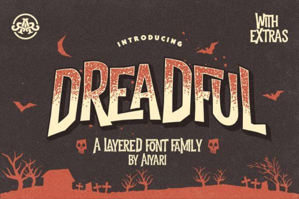 Dreadful – A Spooky Typeface