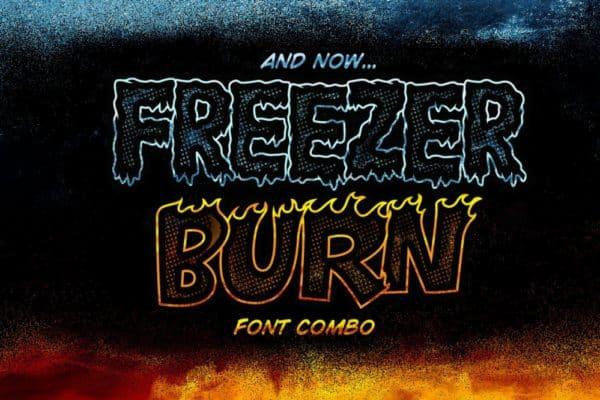 Freezer Burn Font Combo