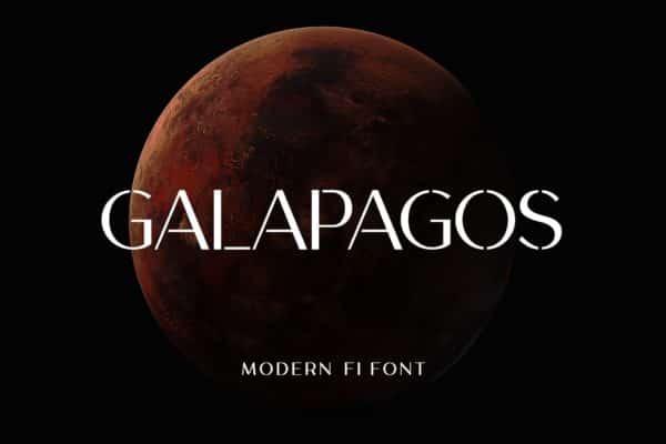 Galapagos Modern Font