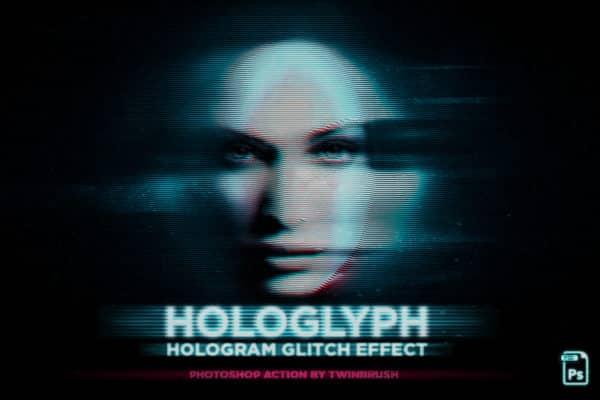 Hologlyph Action Hologram Glitch Effect