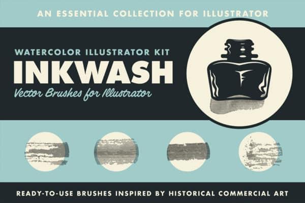 Ink Wash Watercolour Brushes Set