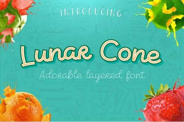 Lunar Cone – Adorable Layered Font