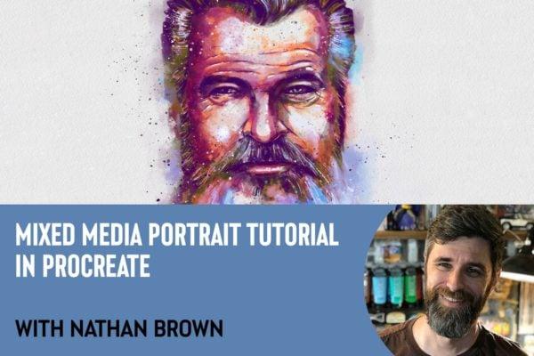 Mixed Media Portrait Tutorial in Procreate