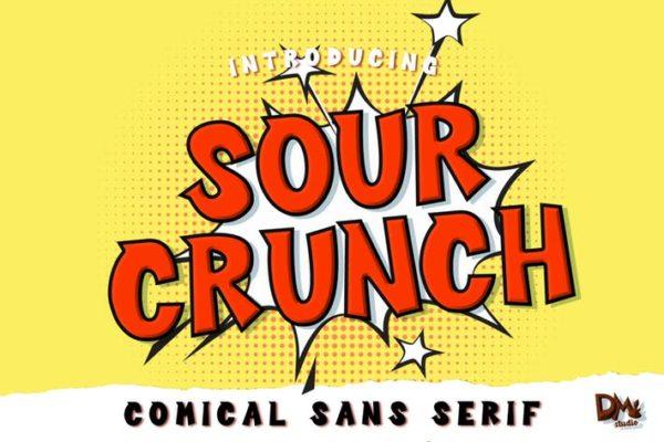 Sour Crunch - Comic Font