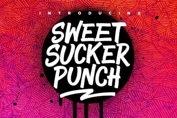 Sweet Sucker Punch Marker Pen Font