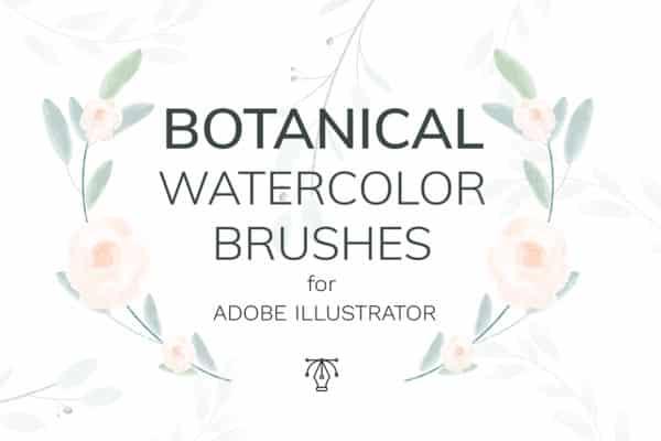 Vector Botanical Watercolor Brushes