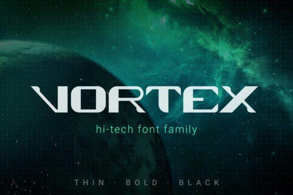 Vortex Technology Scifi Future Font