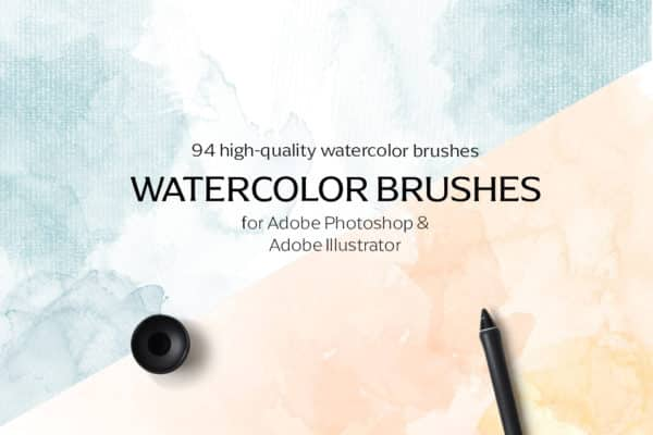 94 High-Quality Watercolor Brushes for Adobe Illustrator