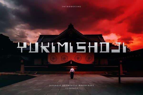 Yukimi Shoji - Authentic Japanese Typeface